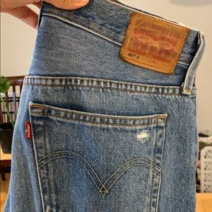 Gently used Levi ripped jeans
